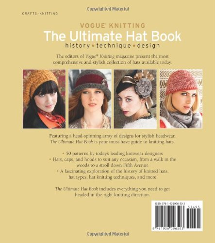 70953a86d6b Vogue® Knitting The Ultimate Hat Book  History   Technique   Design  Vogue  Knitting Magazine  0499991616213  Amazon.com  Books