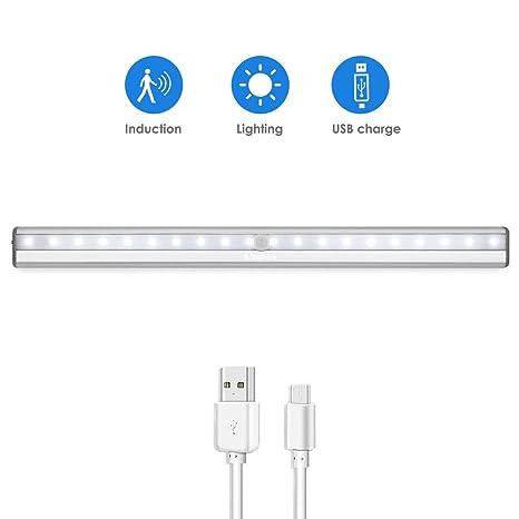Armario iluminación LED Color Blanco Frío Joy Hero inalámbrico USB Barrera iluminación con sensor de movimiento