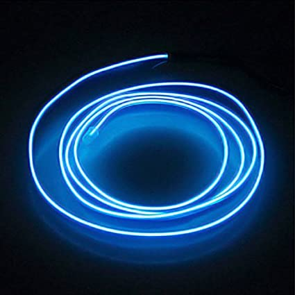 new style 72c8e 128fb Amazon.com: 1M Flexible Neon Light Car EL Wire Rope Tube LED ...