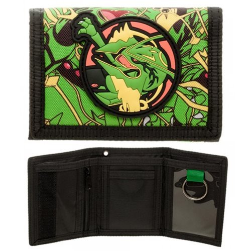 Bioworld- Pokemon Rayquaza Trifold Wallet- PVC Patch Velcro Photo