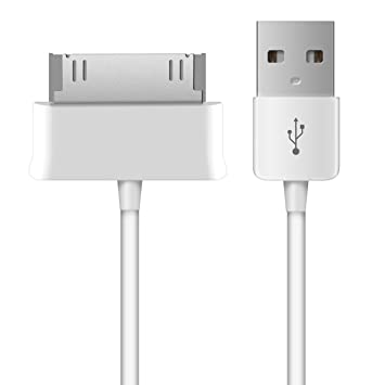 kwmobile Cable USB para Samsung Galaxy Tab 1/2 10.1/Tab 2 7.0/Note 10.1 - Cable de Datos y Carga para Tablet - Conector USB Blanco