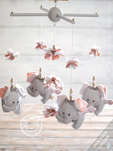 Amazoncom Grey Pink Elephant Nursery Decor Pink Grey - Pink and grey nursery decor