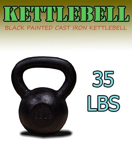 Nuevo 35 KG de hierro fundido pesas rusas peso mancuernas Kettlebell: Amazon.es: Deportes y aire libre