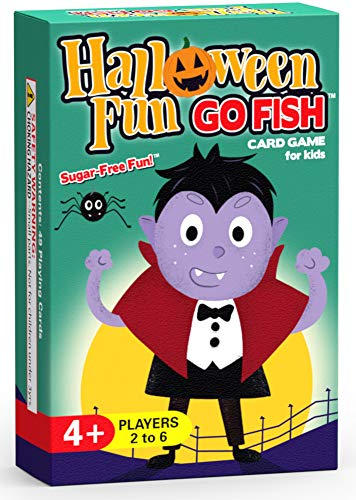 10 Halloween Games (Halloween Fun Go Fish Card Game for Kids - Play Go Fish, Old Maid, and Slap Jack - 3 Fun Classic Kids Games in 1 Halloween Themed)