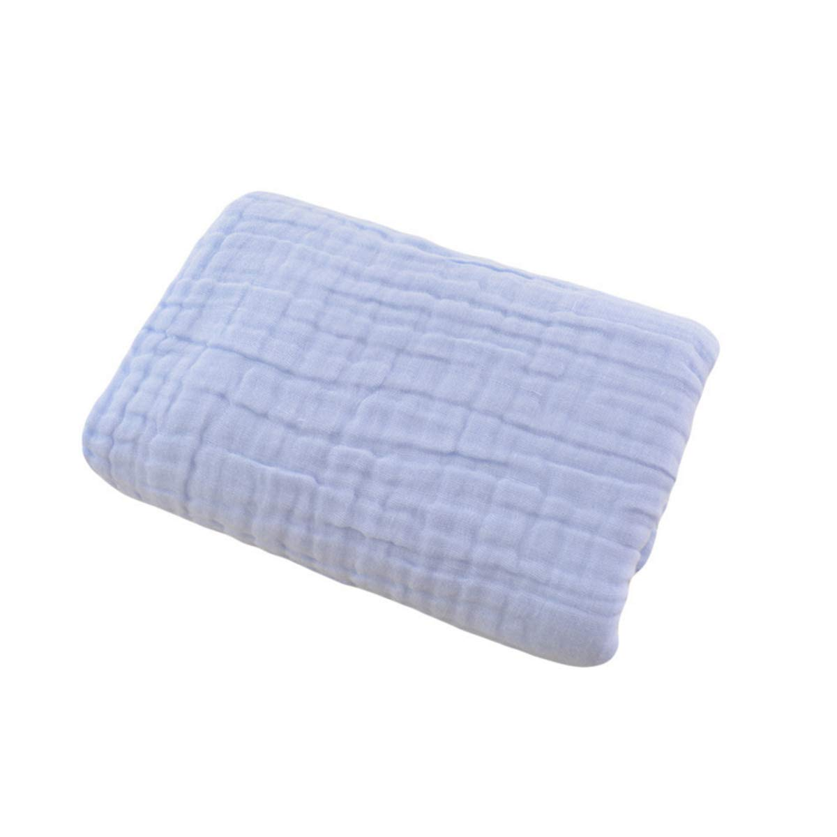 Extremely Soft and Breathable 100/% Fluffy Gauze Cotton G-Tree 6 Layer Muslin Swaddle Blanket Thermal Warm Baby Blankets 43.3x43.3in Blue