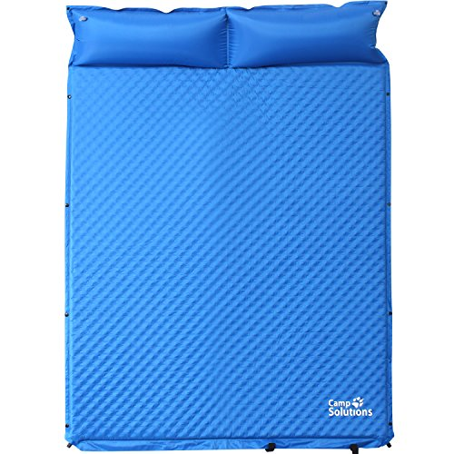 Camp Solutions Double Self-Inflating Air Sleeping Pad for Outdoor Camping