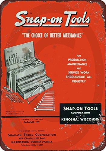 (Custom Kraze 1958 Snap On Tool Catalog Vintage Look Reproduction Metal Sign 8x12 USA)