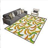 Carpet,Retro Pop Art Trippy Banana Fractal Minimalist 80s...