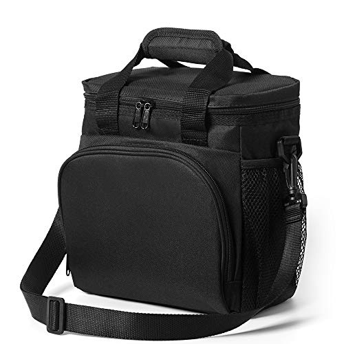 [해외]여성 비치 학교 피크닉 여행 작업 야외 (블랙)를위한 남성 방수 경량 절연 점심 가방 피크닉 쿨러 가방 쿨러 가방 / Picnic Cooler Bag Cooler Lunch Bag for Men Waterproof Lightweight Insulated Lunch Bags for Women Beach School Picnic Trave...