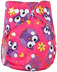 Baby Cloth Diapers, One Size Baby Washable Reusable Cloth Diapers, atmungsaktive, auslaufsichere Windelhülle,