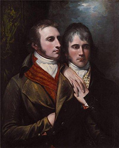 Oil Painting 'Benjamin West,Raphael West And Benjamin West