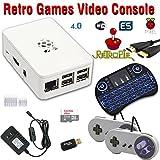 RetroBox - Raspberry Pi 3 Based Retro Game Console, RetroPie 32GB Edition with Heatsinks, Combo with Backlit Wireless Keyboard/Mouse