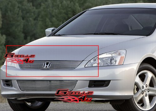 - APS H87133A Polished Aluminum Billet Grille Replacement for select Honda Accord Models