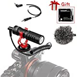Video Microphone, BOYA Universal Youtube Vlogging Facebook Livestream Recording Shotgun Mic for iPhone/Andoid Smartphones, Canon EOS/Nikon DSLR Cameras and Camcorders
