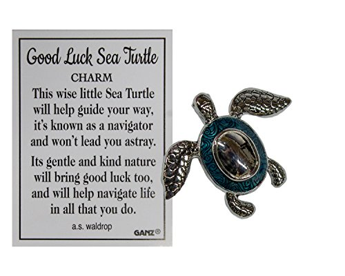 Ganz Good Luck Sea Turtle Pocket Charm with Story Card ()