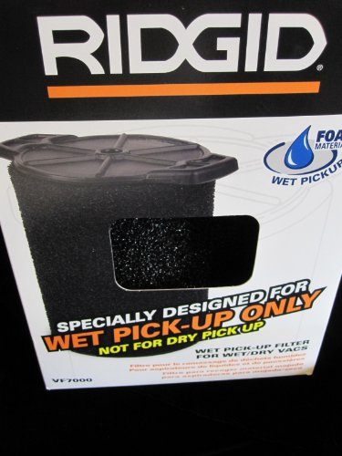 Ridgid VF7000 Wet Application Filter for Wet/Dry (Wet Pickup Foam Filter)