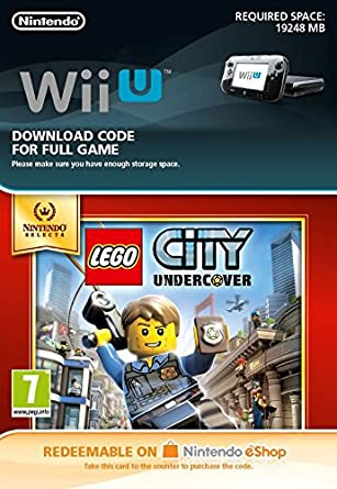 Lego City Undercover Selects [Wii U Download Code]: Amazon.co.uk: PC ...