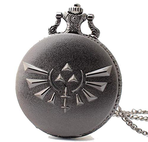 Onlyfo The Legend of Zelda Pocket Watch Locket Pendant Necklace with Jewelry Box,The Legend of Zelda Necklace for Boys, Girls (Style A) from Onlyfo