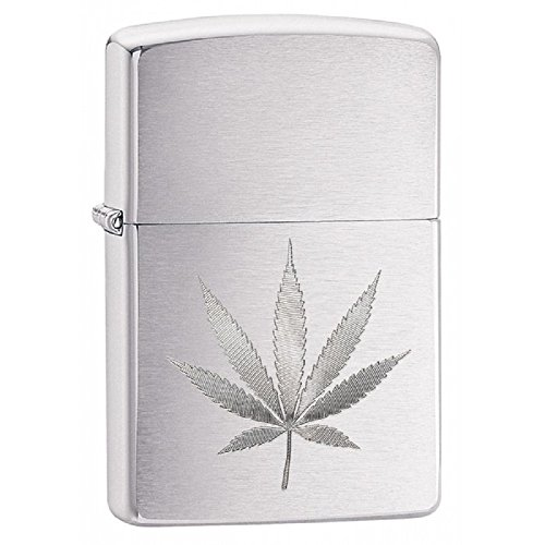 (Personalized Message Engraved Customized Edgy Zippo Lighter Indoor Outdoor Windproof Lighter (Leaf))