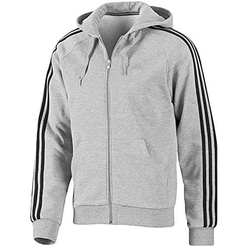 3 Stripes Full Zip - Adidas Essentials 3-Stripes Full Zip Hooded Top - Small
