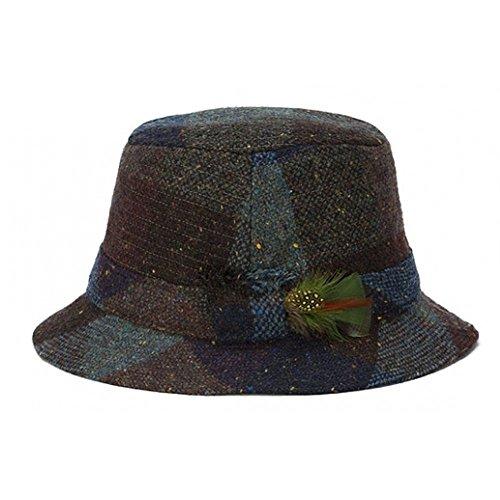 - Hanna Vintage Heather Tweed Walking Hat-WineHeather-Large