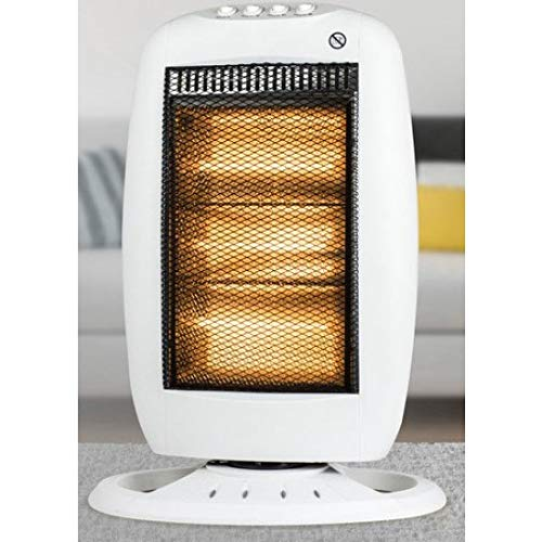 1200W Portable Halogen Heater Instant Heat Electric Energy Saving Oscillating Heater Home Office 3 Heat Settings Wilsons Direct