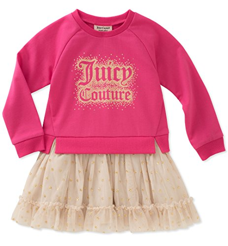 Juicy Couture Girls' Toddler Dress, Fuchsia, 4T
