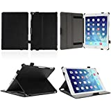 iPad Air 2 Case, AceAbove Apple iPad Air 2 Leather Case - [Slim Fit] Premium PU Leather [Smart Cover] with Built-in Stand and Auto Sleep / Wake Feature for iPad Air 2 (Black)