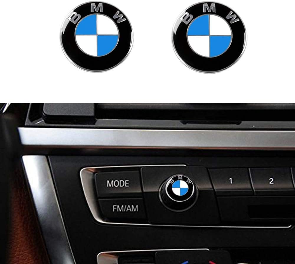 2 PCS Car Bumper Stickers Emblem Auto Accessories Decal Decoration For BMW