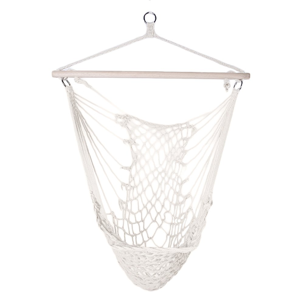 VINGLI Hanging Rope Chair Swing Hammock Seat for Indoor or Outdoor Spaces- Max. 330 Lbs