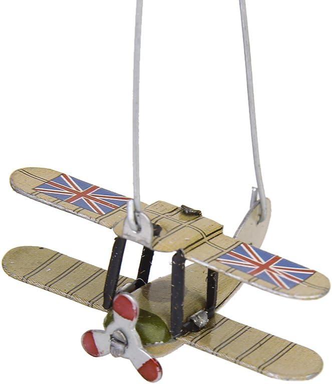 Hellery 2er Pack Karussell Gedreht Flugzeug Blechspielzeug aus Eisen