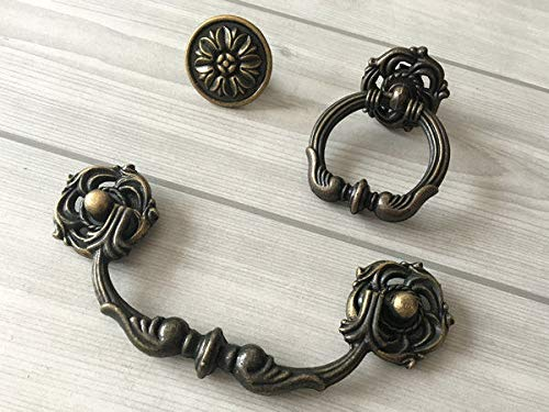 - Cabinet Pull Knob Antique, (Set of 1) - 4.25