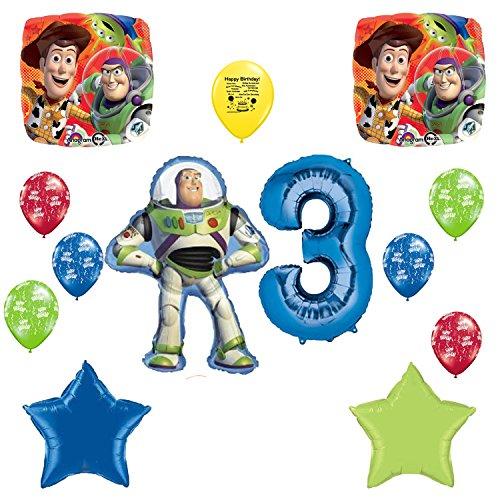 Toy Story Happy 3rd Birthday Balloon (Toy Story Sheriff Badge)