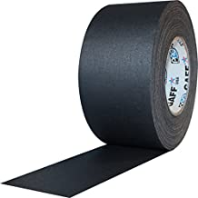 """ProTapes 3"""" Width Pro Gaff Premium Matte Cloth Gaffer's Tape with Rubber Adhesive, 11 Mils Thick, 55 Yds Length, Black (Pack of 1)"""