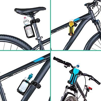 KATELUO 2 Piezas Portavasos de Bicicleta, 360 Grados de Rotación ...