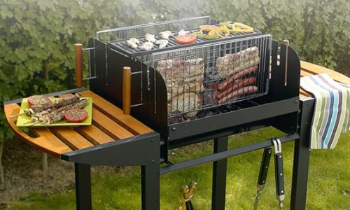 Grand Foyer Barbecue : Barbecue charbon vertical et horizontal