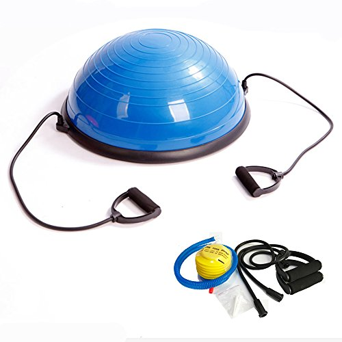 Helang Top quality PVC Explosion-Proof Yoga Ball Plastic Bosu Ball Balance Fitness Ball Body Building Exercise Training Equipment (blue)