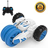 RC Stunt Car, Radio Control Racing Vehicle Car 4 Channel 2.4Ghz Control Double Sided 360 Degree Spins Special Flowering Stunt Action with LED Headlights Gift Toy for Kids
