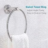Hand Towel Ring Brushed Steel, APLusee SUS 304