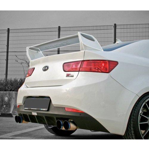 Sequence Rear Trunk Lip Wing Spoiler Unpainted For 2009 2010 2011 2012 Kia Forte Koup Cerato