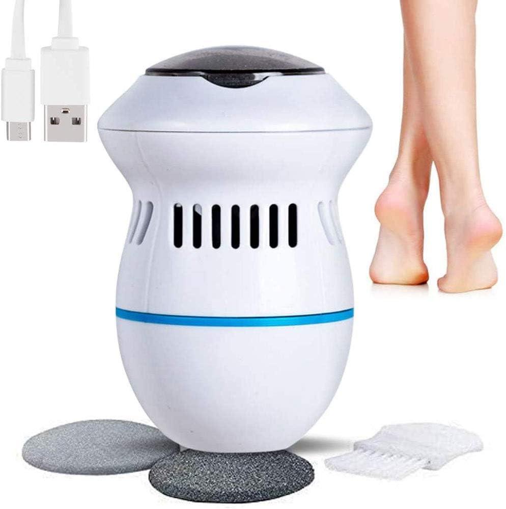 Limitador de callos, lima eléctrica para pies, recargable, herramientas profesionales de pedicura para pies secos, piel callosa muerta, talones agrietados con aspiradora incorporada: Amazon.es: Belleza