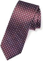"BUTTONED DOWN Men's Classic Silk 3"" Necktie, burgundy windowpane, Regular"