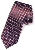 Buttoned Down Men's Classic Silk 3'' Necktie, burgundy windowpane, Regular
