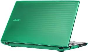 "mCover Hard Shell Case for 15.6"" Acer Aspire E 15 E5-575 / E5-576 Series Windows Laptop (Green)"