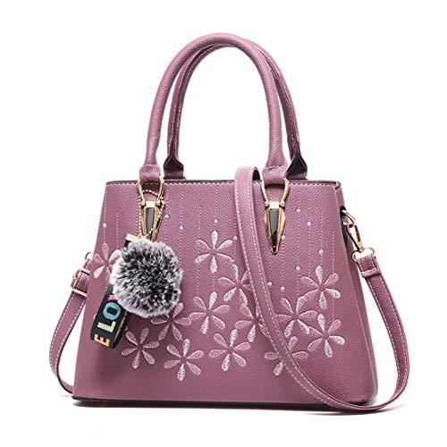 mano de Mujer Carteras bolsos Púrpura clutches de y Bolsos bandolera hombro y Shoppers rxxzSwt