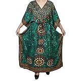 Mogul Womens Maxi Caftan Kaftan Cover Up Beach Dress Resort Wear One Size