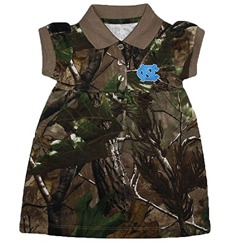 North Carolina Tar Heels NCAA Newborn Baby Camouflage Dress (6-9 Months (North Carolina Tar Heels Camo)