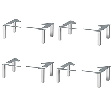 IKEA Lillangen Stainless Steel Legs for Bathroom Cabinets With Moisture  Protection - 4 PACK