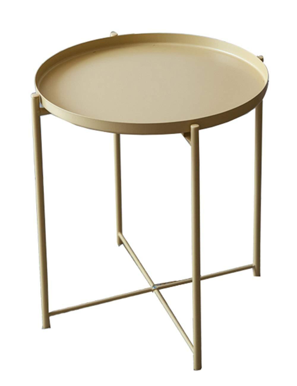 Amazon.com: Mesa auxiliar de hierro forjado, mesa de café ...