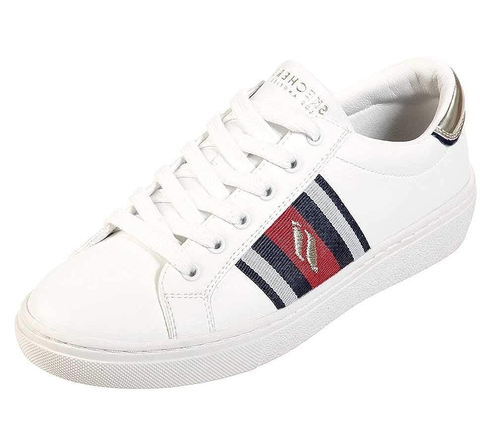White Skechers Street goldie Collegiate Cruizers Womens Sneakers
